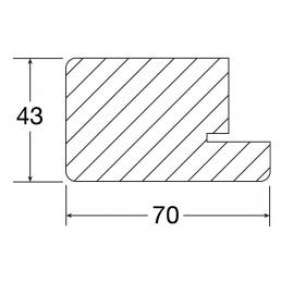 Zeichnung, Blendrahmen 70x43mm, Querschnitt