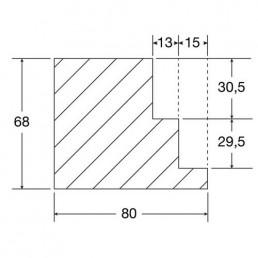 Blockrahmen mit Doppelfalz, Zeichnung und Maße