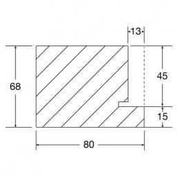 Blockrahmen für stumpfe Türen, Zeichnung und Maße
