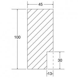Zeichnung und Maße Blockzarge