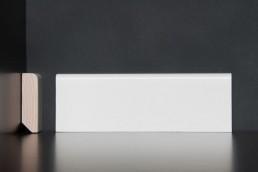 Leiste Echtholz, weiß lackiert