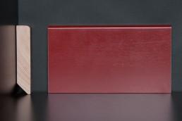 Leiste Echtholz, rot lackiert