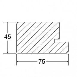 Zeichnung Blendrahmen 75x45mm, Querschnitt